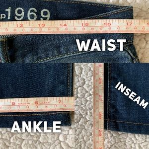GAP Jeans - GAP 1969 Slim Straight Jns Whiskered Med/Drk Wash